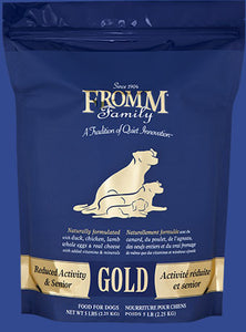 Holistic Dog Food Fromm Reduced Activity & Senior Gold Gold Dry 33lb