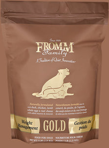 Holistic Dog Food Fromm Weight Management Gold Gold Dry 15lb
