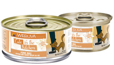 Weruva Cats In The Kitchen Fowl Ball - Chicken and Turkey Recipe Au Jus 3.0oz