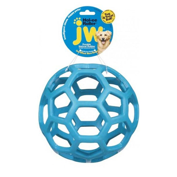 JW Pet Hol-ee Roller Dog Toy Small Blue