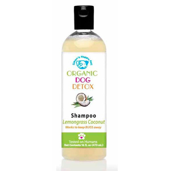 Holistic Dog Simon's Happy Pet Organic Dog Detox Lemongrass Coconut Shampoo 16 oz