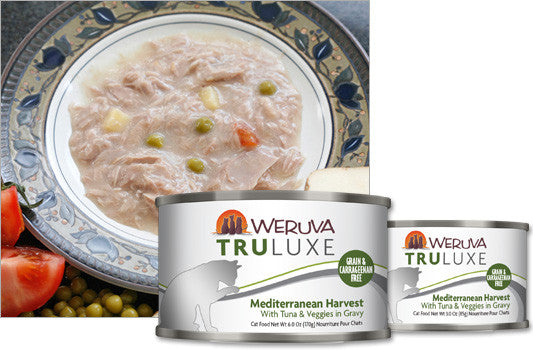 Weruva Truluxe Mediterranean Harvest – With Tuna & Veggies in Gravy 3oz