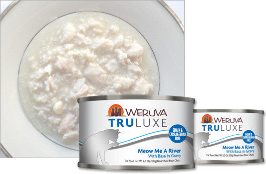 Weruva Truluxe Meow Me A River – With Basa in Gravy 3oz