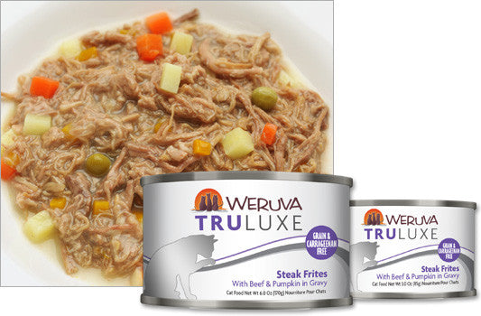 Weruva Truluxe Steak Frites – With Beef & Pumpkin in Gravy 3oz