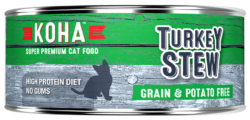 Holistic Cat Koha Grain Free Turkey Stew Wet Cat Food 5.5 oz can