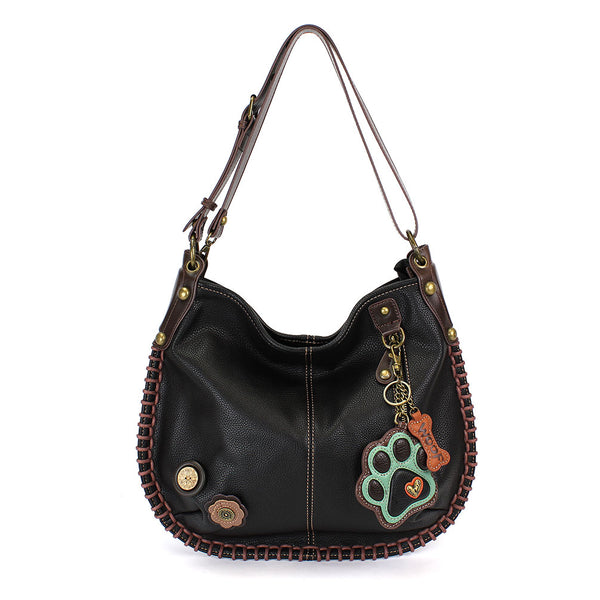 Chala Handbags Hobo Style -Convertible Crossbody or Shoulder Bag
