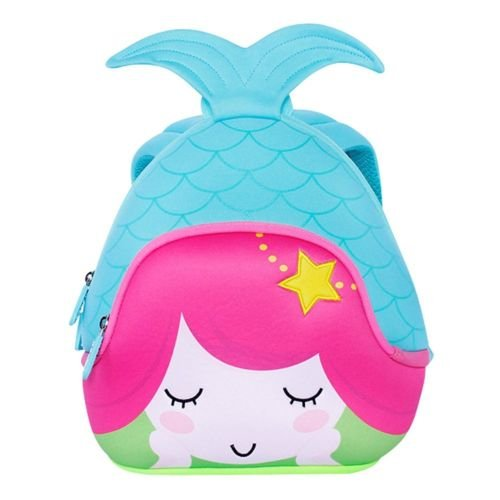 Jack & Friends Neoprene Kids Backpack/Lunch Kid's Lunch Bag for Preschooler to Kindergarten (Mermaid- Large/Kids)
