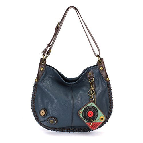 "Chala Charming Hobo Crossbody Purse ""Turntable"" - Navy"