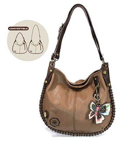 Chala Charming Hobo Crossbody Butterfly Bag Brown