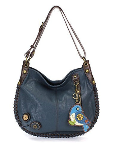 CHALA Crossbody Handbag, Hobo Style, Casual, Soft, Large Bag Shoulder Crossbody - Navy (Blue Bird Navy)