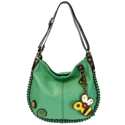 Chala Charming Convertible Hobo/Xbody Bag -(Teal, Bee)