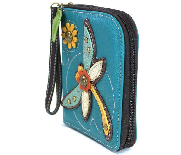 Charming Chala Dragonfly Purse Wallet Credit Cards Coins Wristlet