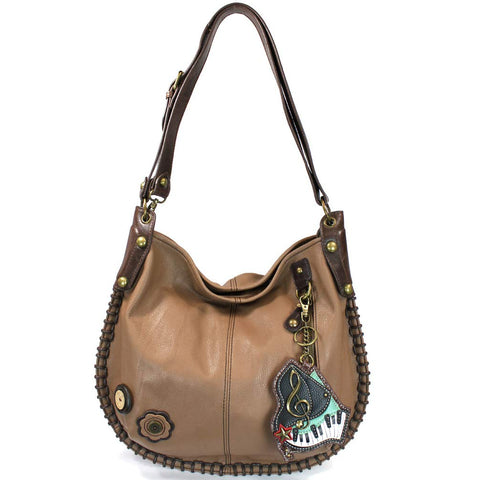 Chala Charming Hobo Crossbody Bag Piano Brown