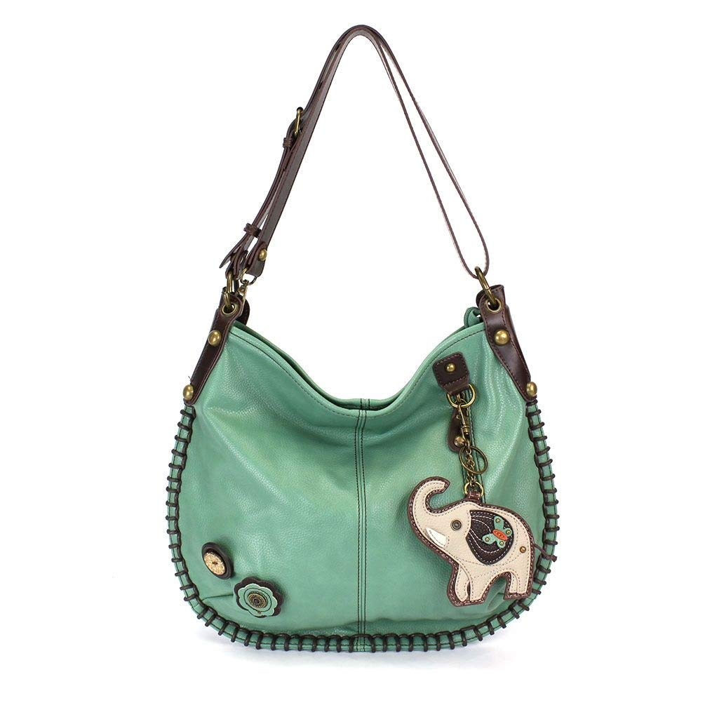 CONVERTIBLE Hobo Large Bag ELEPHANT Peather Teal Green w/Coin Purse