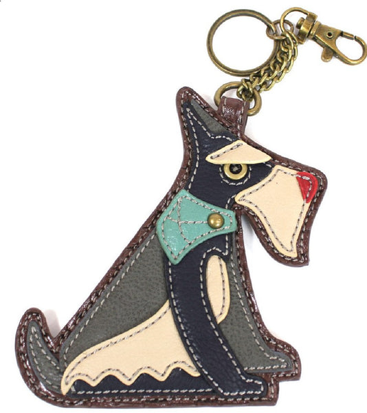 Chala Coin Purse / Key Fob (Schnauzer)