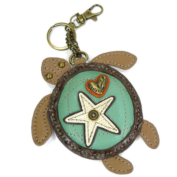 Chala Detachable Coin Purse - Key Fob (806 Turtle) for Wristlet or Handbag