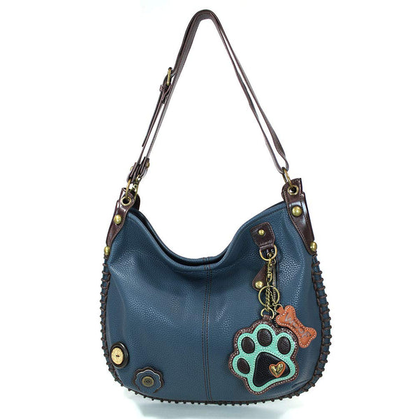 CHALA Handbags Hobo Crossbody or Shoulder Convertible Large Chala Purse- Navy Blue (20 Styles)