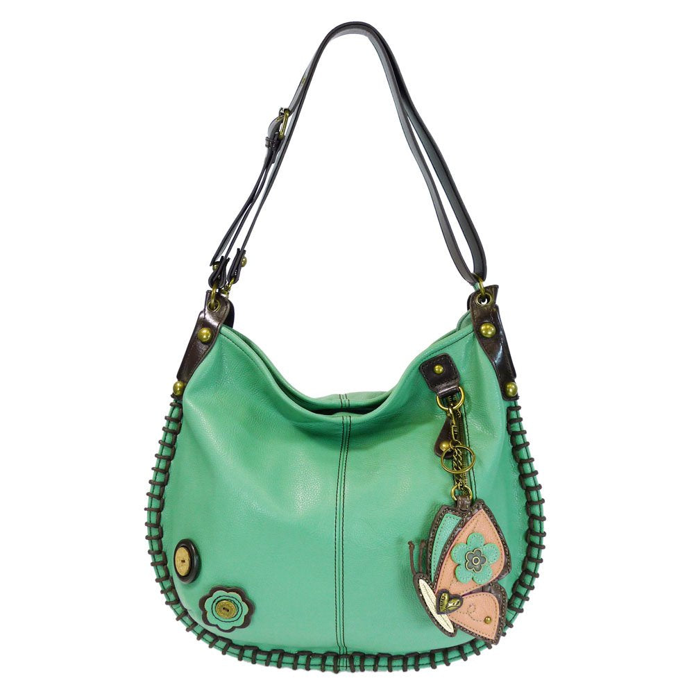 CHALA Charming Convertible Hobo/xbody Bag (Teal) (Butterfly)