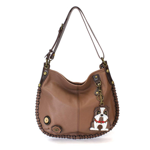 Chala Charming Hobo Crossbody Bag Bulldog Brown