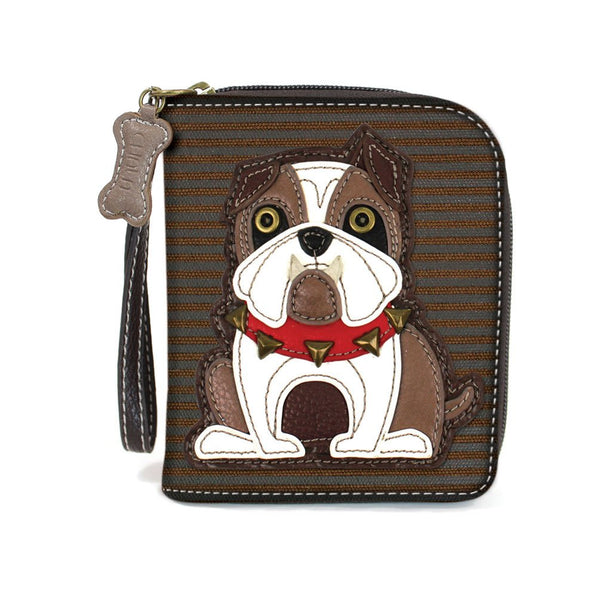 Charming Chala Deluxe Wallet with Credit Cards Slots, Wristlet (Pitbull Bulldog)