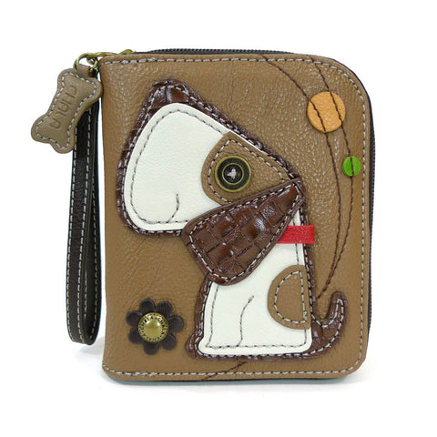 Chala Zip Around Wallet - Dog Brown