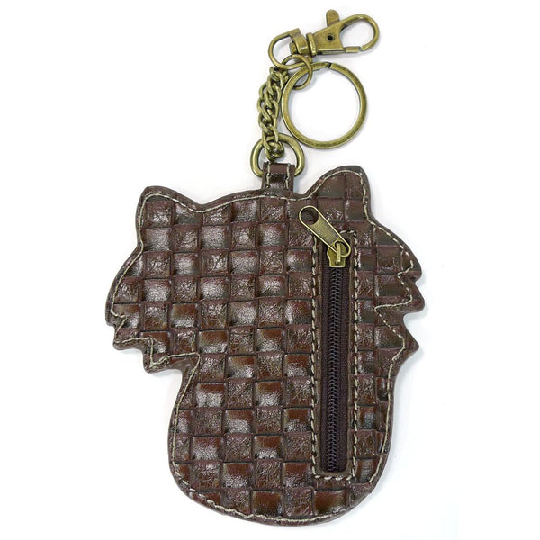 Chala Faux Leather Key Fob/Coin Purse (Fire Fox)