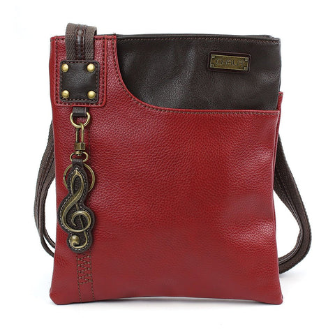 Chala Crossbody SWING Bag Vegan Leather (Burgundy Music)