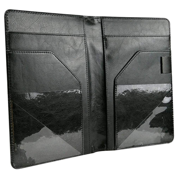 Large Waiter Book Wallet, Premier Waiter Organizer with 11 Pockets, Picture Slot, Coin Purse, Holds 2 Guest Checks | for R/Left Handed Waitress (MSP-350 Black)