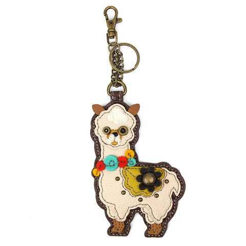 Chala Decorative Purse Charm, Key fob, coin purse - (Llama)