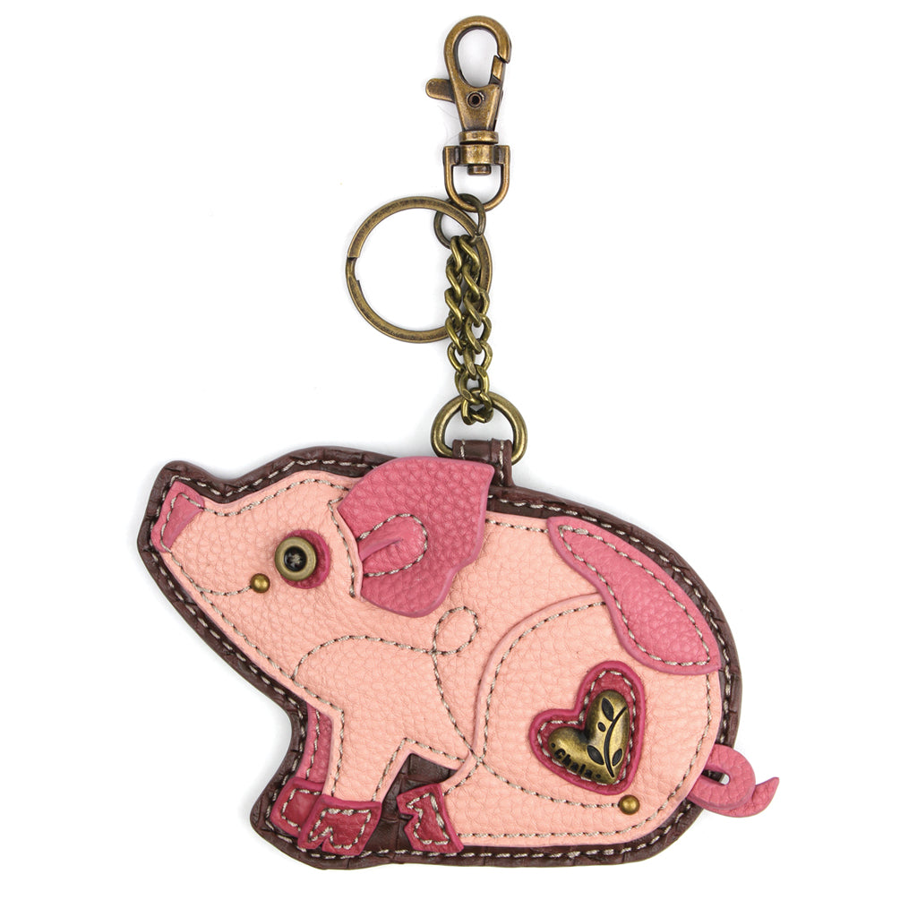 Chala Decorative Purse Charm, Key fob, coin purse - (Pig)