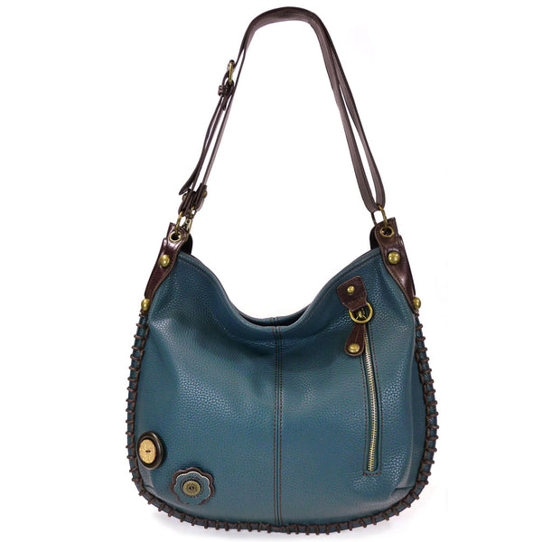 Chala Large Convertible Hobo Handbags ( 7 Colors )+ Free Key fob/ Coin Purse
