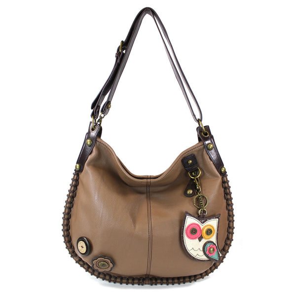 Chala Charming Hobo handbag + detachable Coin Purse (Rainbow Owl) - Animal-Bags.com