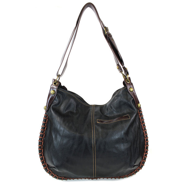 Chala Large Charming Convertible Hobo Handbag ( 7 Colors )+ Free Key fob/ Coin Purse