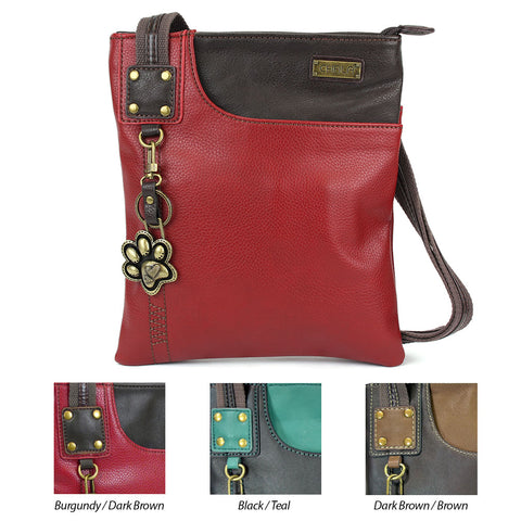 Chala Swing Pack Cell Phone Crossbody Purse with Mini Keychain- 3 Colors (28 Styles)