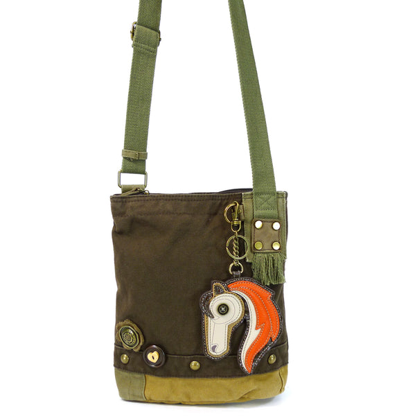 Chala Patch Crossbody Bag - Dark Brown (Horse)