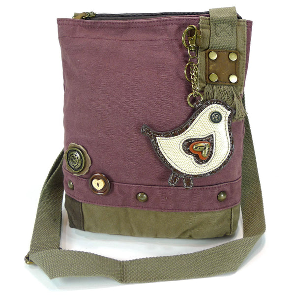 Chala Patch Crossbody Bag + Faux leather Coin Purse ( Green Bird) - Animal-Bags.com