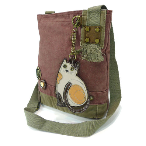 Chala Patch Crossbody Bag+Coin Purse (LaZzy Cat)