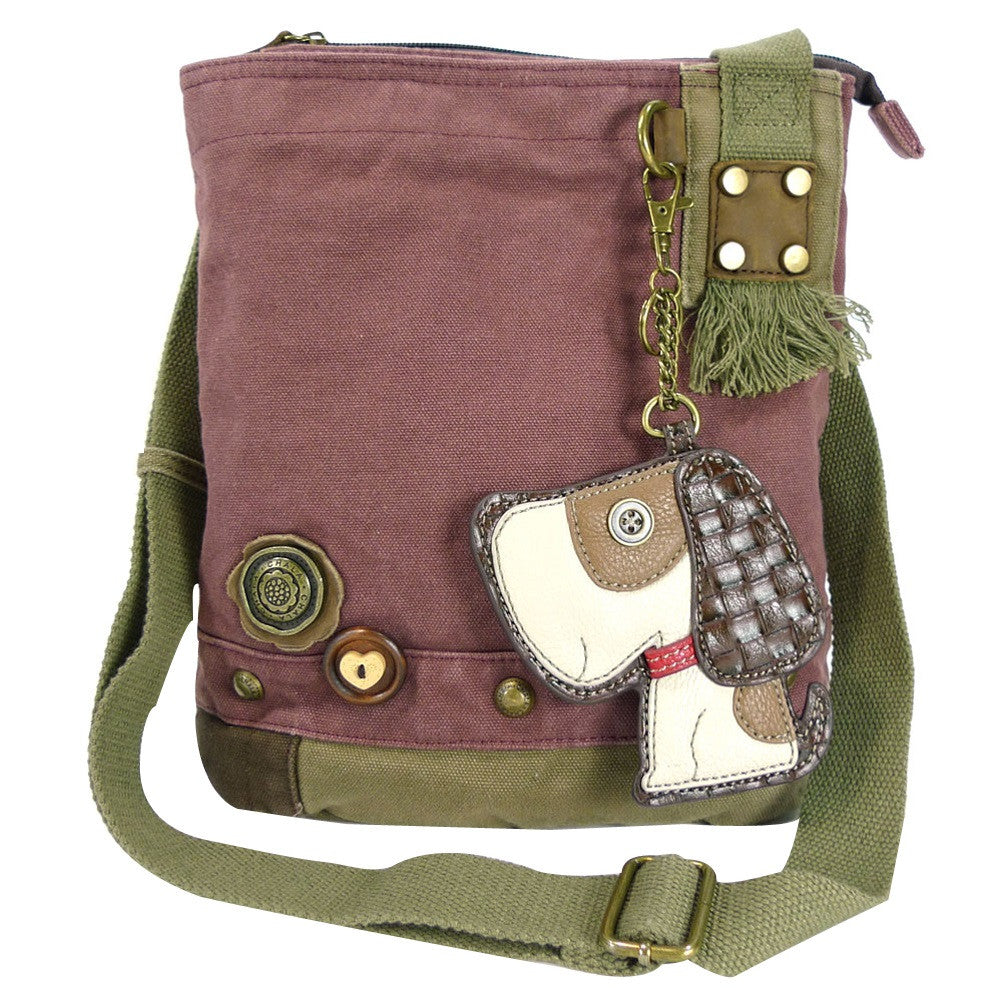 Chala Patch Crossbody Bag + Faux Leather Coin Purse (Toffee Dog) - Animal-Bags.com