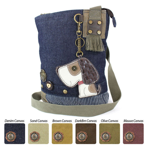 Chala Patch Crossbody Bag + Faux Leather Coin Purse (Toffee Dog)