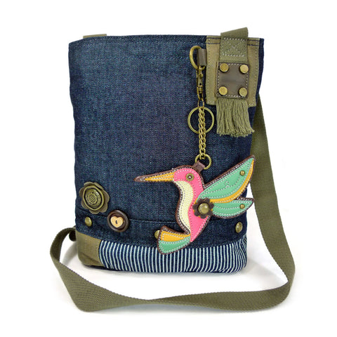 Chala Patch Crossbody Bag + Detachable Coin Purse Bundle ( Hummingbird )