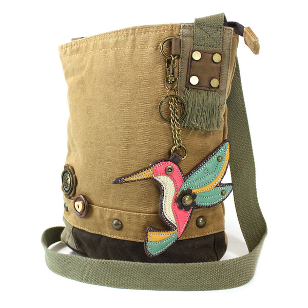 Chala Patch Crossbody Bag + Detachable Coin Purse Bundle ( Hummingbird ) - Animal-Bags.com