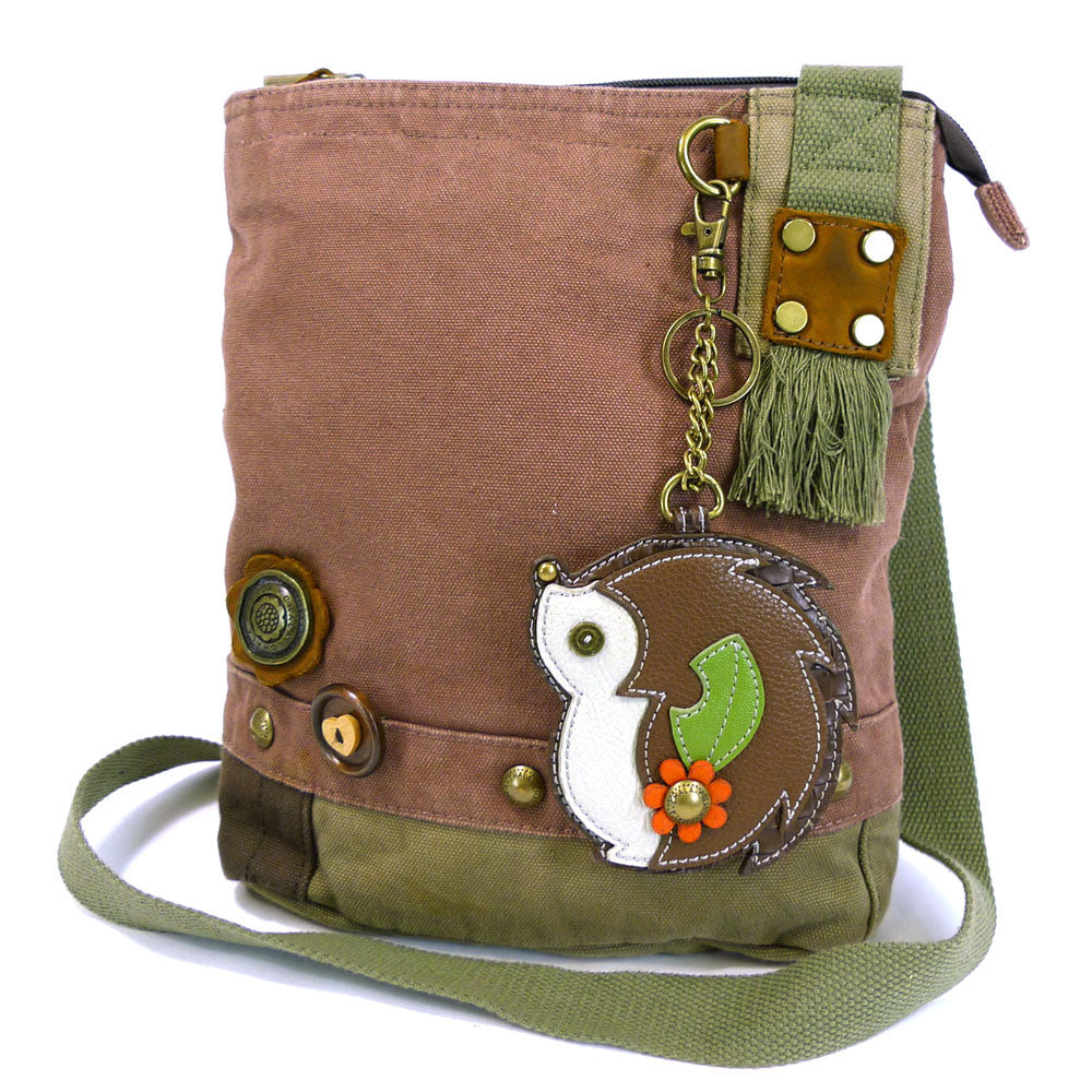 Chala Patch Crossbody Bag + Coin Purse (HedgeHog)-Free Shipping - Animal-Bags.com