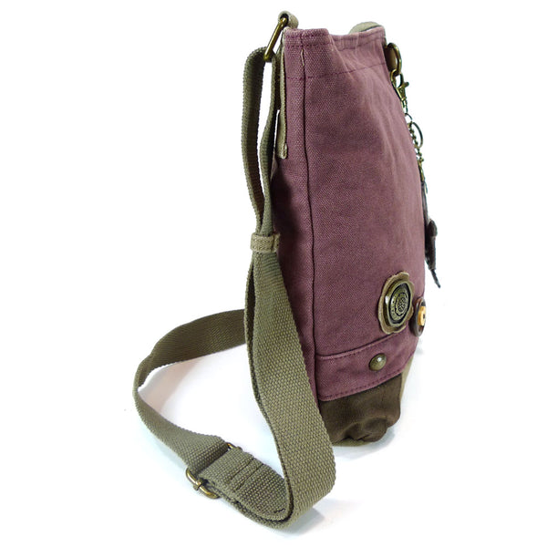 Chala Patch Crossbody Messenger Bag (6 colors option) + Detachable Metal Turtle-1 Keychain - Animal-Bags.com