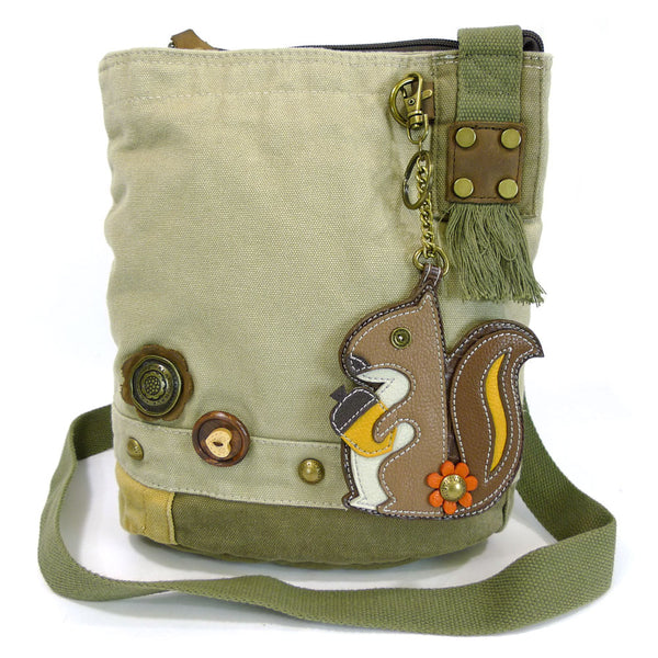 Chala Patch Crossbody Bag+ Coin Purse (Squirrel) - Animal-Bags.com