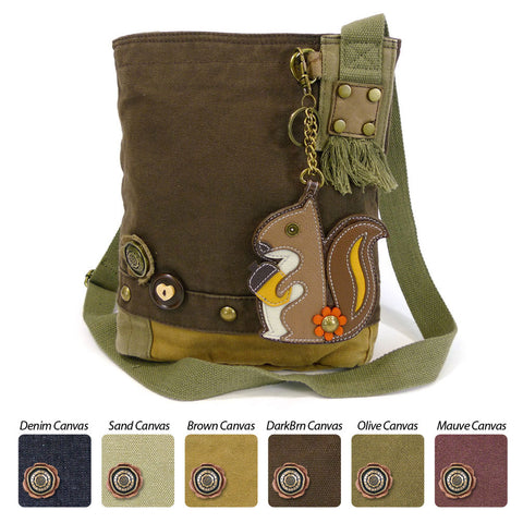 Chala Patch Crossbody Bag+ Coin Purse (Squirrel)