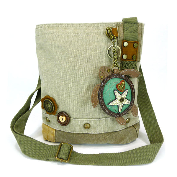 Chala Patch Crossbody Bag+Coin Purse (Sea Turtle) - Animal-Bags.com