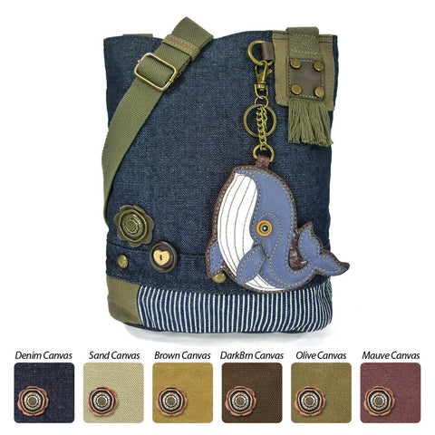Chala Patch Crossbody Bag+ Coin Purse (Blue Whale)