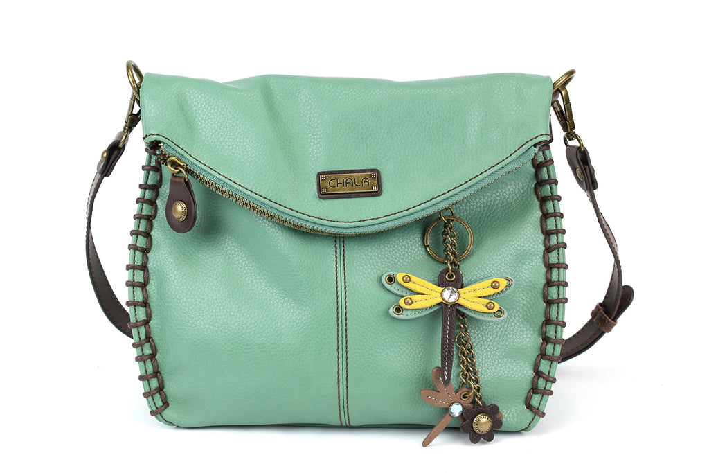 Teal DF1 Charming Crossbody Bag Chala PU Leather-