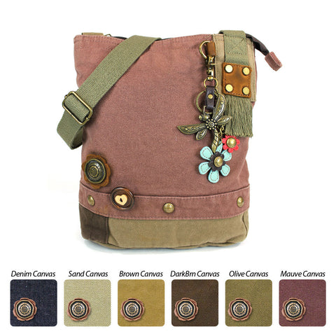 Chala Patch Crossbody Bag (6 colors option) + Detachable Metal Keychain (Dragonf