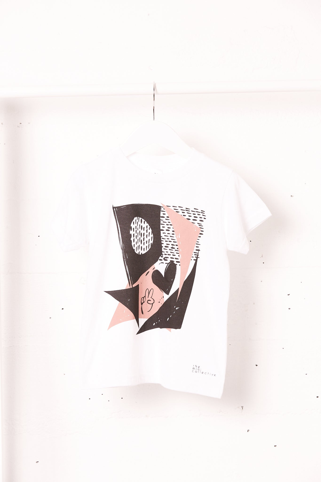 Peace and Love Tee in White